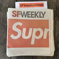 Supreme SF Weekly Newspaper 10/24 Limited Edition San Francisco BOX LOGO NEW