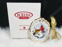 """2003 Boehm Home Interiors And Gifts """"Northern Cardinals In Winter"""" Christmas"""