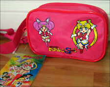 Super S SailorMoon Purse Waist Bag Fanny Pack Sailor Moon & Chibi Pink RARE ITEM