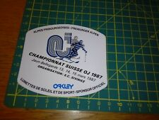 ADESIVO STICKER VINTAGE KLEBER ski sci oakley championnat suisse oj 1987