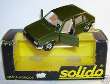 OLD SOLIDO SIMCA HORIZON VERT METAL REF 76 1978 1/43 IN BOX