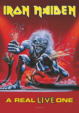 "IRON MAIDEN bandiera/bandiera ""A REAL LIVE ONE"" POSTER FLA"