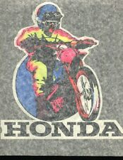 HONDA MOTOCROSS vintage 70s iron on t shirt transfer NOS full size