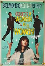 A WOMAN IS A WOMAN ROLLED ORIG 1SH MOVIE POSTER GODARD BELMONDO RR03 (1961)