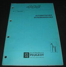 Werkstatthandbuch Peugeot 406 automatischer Scheibenwischer Stand 10/1995!