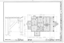traditional bungalow architectural drawings, porch, 1 story, 2 bedrooms