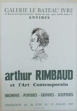 """""""Arthur RIMBAUD et l'Art Contemporain"""" Affiche orig. entoilée Erneste DELAHAYE"""