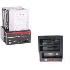 """USB 3.0 2.5"""" 3.5"""" SATA IDE Hard Disk Drive HDD Clone Docking Station USB HUB 2TB"""