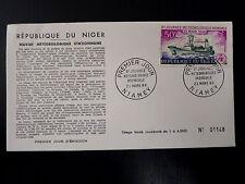 NIGER  AERIEN 55  PREMIER JOUR FDC     NAVIRE METEOROLOGIQUE      50F      1966