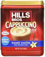 Hills Bros. Instant Cappuccino Mix, Sugar-Free French Vanilla Cappuccino