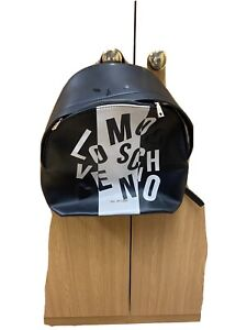 Black & White LOVE MOSCHINO Back Pack Fantastic Condition