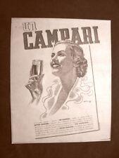 Pubblicità del 1945 Bitter Campari Domandate solo quello Davide C. Milano
