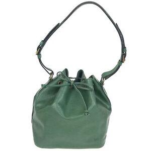 100% Authentic Louis Vuitton Epi Petit Noe Green M44104 [Used] {07-115C}