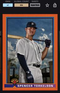Topps MLB Bunt DIGITAL 21 Bowman Orange 1991 Base Super Rare Spencer Torkelson