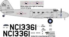 United Airlines 1934 Boeing 247D decals for Williams Brothers 1/72 scale