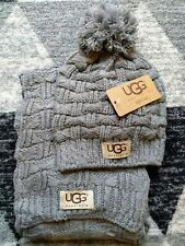 UGG Australia Grey Hat & Scarf Set