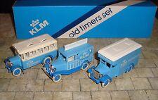 LLEDO  - 3 PIECE KLM OLD TIMERS SET INC DENNIS VAN/FORD WOODY WAGON/DENNIS COACH