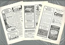 1915-18 BISSELL CARPET SWEEPER advertisements x3, SMALL ADS