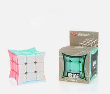 YongJun Concave Surface Stickerless 3x3x3 Odd Shape Magic Cube Twsit Puzzle Toy