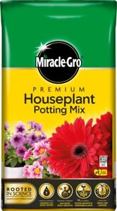 Miracle Gro Premium Houseplant Potting Mix Compost 10L Hanging Basket Flower Bed
