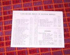 CASH RETAIL PRICE LIST ELSWICK BICYCLES OCT 1940 CONTINENTAL MODEL 24 PHOENIX 14