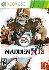 Madden NFL 12 (Microsoft Xbox 360, 2011) GAME AND CASE NICE SHAPE NES HQ