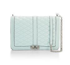 Rebecca Minkoff Bag Convertible Jumbo Love Mint Leather NEW $355 retail