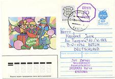 ESTLAND 1992 60 K violett neben 7 K alte Wertstempel m Kugelschreiber durchbalkt