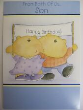CUTE MUMMY & DADDY BEAR FROM BOTH OF US SON BIRTHDAY GREETING CARD