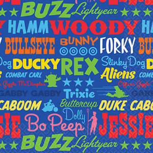 Toy Story Party Napkins/Serviettes 16pk 2Ply 25cm (Beverage Size)
