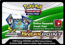 Pokemon TCG XY BREAKPOINT : VIRTUAL ONLINE CODE CARD NEW X 100