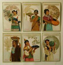 6 Kaufmannsbilder von Palmin Serie 83 Früchte und Frauen
