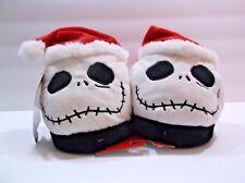"Jack Skellington ""Nightmare Before Christmas"" Plush Slippers NWT NWT"