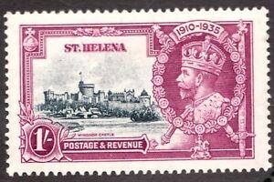 Sc #114 / SG127 - St Helena - 1/-  George V - 1935 - MH - superfleas - cv$19