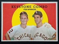 1959 Topps Nellie Fox Luis Aparicio Keystone Combo #408 HoF EX/MT Chicago