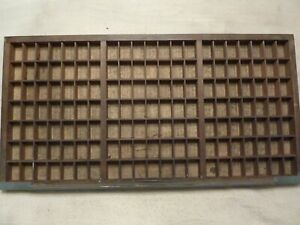 Vintage Wooden Printers Drawer Letterpress Type Set Tray Shadow Box Hamilton