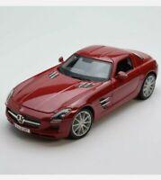 MERCEDES BENZ SLS AMG MAISTO 36196 1/18 DIECAST SPECIAL EDITION - RED