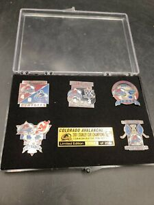 COLORADO AVALANCHE 2001 Limited Edition STANLEY CUP PIN SET 0914/2001