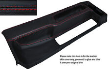 RED STITCHING CENTRE CONSOLE LEATHER SKIN COVER FITS BMW 3 SERIES E30 84-91