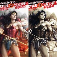 JUSTICE LEAGUE VS. SUICIDE SQUAD #1 STANLEY ARTGERM LAU VARIANT SET