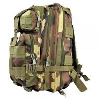 Zaino tattico militare d'assalto 30 litri woodland waterproof day bagpack JS-Tac
