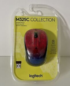 NEW Logitech M325c Color Collection Wireless Optical Mouse Urban Sunset