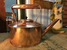 Beautiful Antique Vintage Copper Pot Belly Stove Top Country Kitchen Kettle