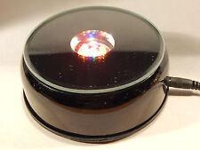 Rotating Lighted Display Black Base - Multi Colored LED Lights