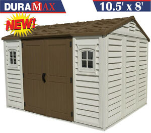 Duramax Apex 10.5' x 8' Plastic Garden Storage Shed Heavy Duty FREE DELIVERY