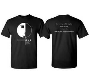 Bauhaus Brighter Morning Punk Gothic Rock Music Band England T Shirt BAU-1016