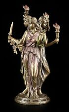 Hecate Figurine trois sous forme Wicca Magie sorcellerie Spirit Statue Veronese