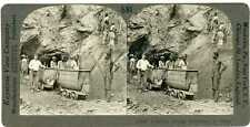 South Africa ~ DE BEERS DIAMOND MINE HOISTING SHAFT ~ Stereoview 17026 ve581a fx