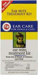 R7 Miracle Pet Ear Mite Treatment KIT Ears redness dog cat KILLS mites ticks bug