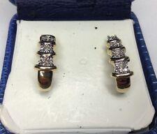 14K Diamond Earrings Pierce (J149)